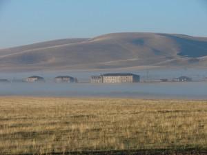 Ranná hmla severozápadného Arménska
